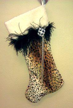 Cheetah Christmas Stocking