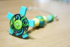 Light Pull & Ceiling Fan Pull/Blue,Green/Polymer Clay and Glass Beads/Home and Living/Home Decor/Funktini/Lighting Accessory/Lighting Decor