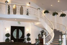 For a dramatic entrance White Chapel Estate and Gardens has a winding staircase that ends at the back of the chapel where the bride begins her procession. Fort Wort wedding, Fort Worth reception, #weddingwishes