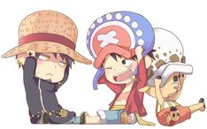 One Piece, Luffy, Law, Chopper