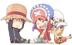 One Piece, Luffy, Law, Chopper