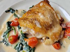 Enjoy this Tuscan chicken thigh recipe for your next dinner. Full of flavor and an inexpensive chicken dinner you can enjoy anytime. #chickenrecipes #chickendinner #chickenthighs #easydinnerrecipes #dinnerideas Chicken Thighs Dinner, Tuscan Chicken, Chicken Thigh Recipes, How To Cook Chicken, Cherry Tomatoes, Easy Dinner Recipes, Favorite Recipes, Yummy Food, Stuffed Peppers