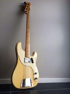 Fender p bass 50s bass guitar Telecaster Bass, Fender Bass Guitar, Acoustic Bass Guitar, Fender Guitars, Vintage Bass Guitars, Fender Precision Bass, Guitars For Sale, Guitar Collection, Guitar Shop