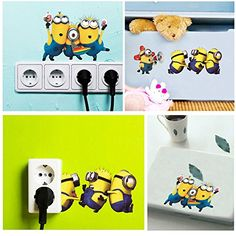 TrolaxTM Cartoon Lovely Minions Despicable Me Removable Wall Sticke DIY Kids Child Room Decor Decal Home Decoration Stickers