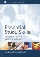 Essential Study Skills by Tom Burns #studytips
