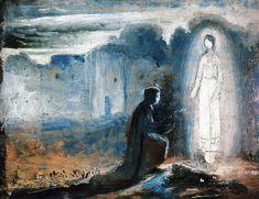 Lajos Gulácsy - A Vision Elves And Fairies, Dark Art, Art Nouveau, Scandinavian, Fairy, Inspiration, Gallery, Creative, Artwork