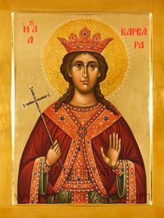 Barbara by Maria Galie Byzantine Icons, Byzantine Art, Saint Barbara, Russian Icons, Russian Orthodox, Orthodox Icons, Christen, Christian Art, Kirchen