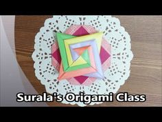 Origami - Korean Traditional Hair Accessory / 종이접기 - 배씨댕기 (한국 전통 머리 장식, Baesi Daenggi) - YouTube