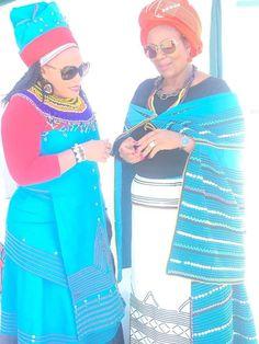 Xhosa Women discussing izinto zomcimbi!! ❤ ❤ Xhosa Attire, Palazzo Pants, Weeding, Clothing Styles, Traditional Outfits, African Fashion, Fashion Dresses, Outfit Ideas, Princess Zelda