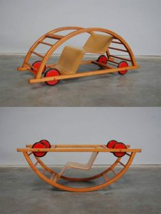 Children's car and rocking chair