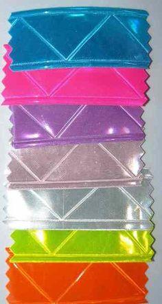 mikroprismatisches Leuchtband in 8 Farben flieder,zartrosa, pink, dunkelblau, aqua, gelb, weiß, orange