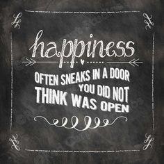 Chalkboard Art Printable HAPPINESS