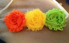 $5.00 Spring shabby flower headband. Inexpensive, cute clips and headbands! Check out CandysHairbows on facebook or www.etsy.com/shop/CandysHairbows