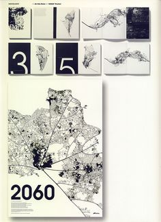 At This Rate & '2060'Poster by STUDIO 8 DESIGN, Matt Willey & Giles Revell: Urban map metaphors the decaying of our nature