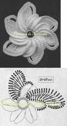 Interesting flower for Irish Crochet or as an embellishment.