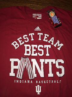 95ff8e03492 Men's XL NWT adidas Indiana Hoosiers Basketball Best Team Best Pants Red T- Shirt