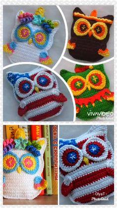 Owl Crochet Patterns, Amigurumi Patterns, Knitting Patterns, Owl Patterns, Free Crochet, Knit Crochet, Crochet Gifts, Stuffed Toys Patterns, Crochet Animals