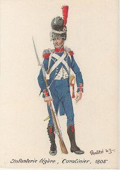 Carabiniere della compagnia carabinieri di un rgt. di fanteria leggera, 1805