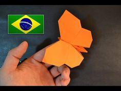 Origami: Borboleta - Instruções em português PT BR - YouTube                                                                                                                                                     Mais