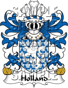 Holland Family Crest apparel, Holland Coat of Arms gifts