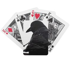 Gothic Crow Playing Cards