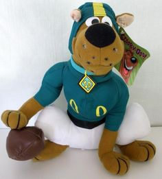 """Hanna Barbera Scooby Doo Football Player Plush With Tag By Toy Factory 12"""" Tall #ToyFactory"""