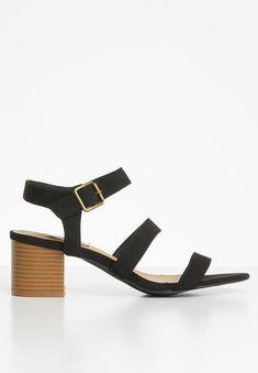 Daphne heel - black Madison® Heels | Superbalist.com Black Heels, Open Toe, Ankle Strap, Two By Two, Footwear, Sandals, How To Wear, Shoes, Women