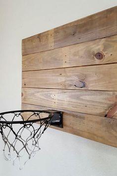 Basketball kids room decor idea // wooden inspired home decor