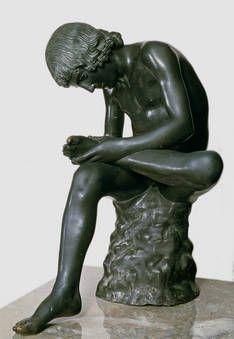 "Greek sculpture called ""Spinario"" (Boy With Thorn)."