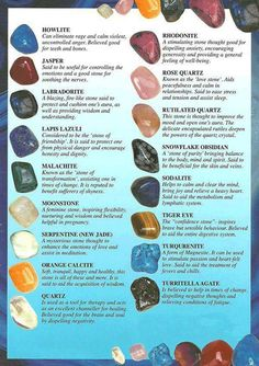 A great collection of #crystals and their meanings. #crystalmeanings