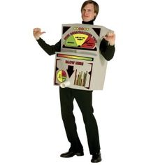 Now this is a Unique costume idea. This breathalizer costume is sure to be a hit at the next party. Your partner can go as an alcoholic drink for a great couples costume idea.
