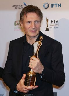 Liam Neeson at 2016 IFTA Film Awards in Dublin | Daily Mail Online