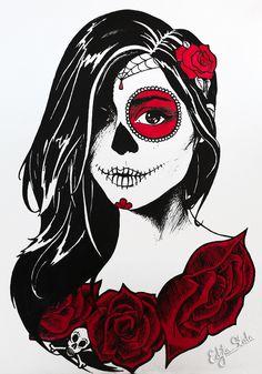 Dia de los Muertos by stalae.deviantart.com on @DeviantArt