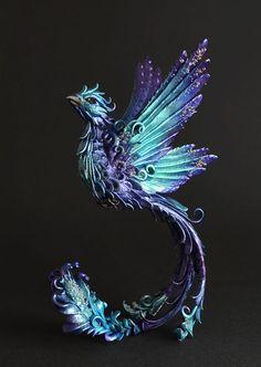 Phoenix sculpture phoenix figurine OOAK bird by MyOwnDragon - Tattoo, Tattoo ideas, Tattoo shops, Tattoo actor, Tattoo art - Tattoo - Bird Sculpture, Animal Sculptures, Fantasy Creatures, Mythical Creatures, Body Art Tattoos, New Tattoos, Wing Tattoos, Tattoos Skull, Celtic Tattoos