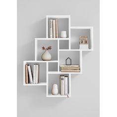 & & & & LAURIO 2 Etagre wall 6 compartments - x x 16 cm - Panel mlamin - Dcor-white gloss Ikea Wall Shelves, Wall Shelf Decor, Cube Shelves, Shelves In Bedroom, Cube Wall Shelf, Shelving Decor, White Shelves, Shelving Ideas, Bathroom Shelves
