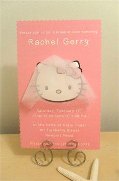 Hello Kitty Bridal Shower Invitations By