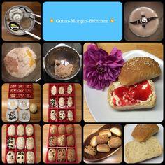 Guten Morgen-Brötchen - gestern Abend vorbereitet - heute früh in den Ofen ... mmmmhhhhh!!! 9 Stück 270 g Mehl 150 g Wasser 15 g Backmalz 12 g Hefe 1 EL Öl 1 TL Zucker 1/2 TL Salz Wasser, Hefe und ...