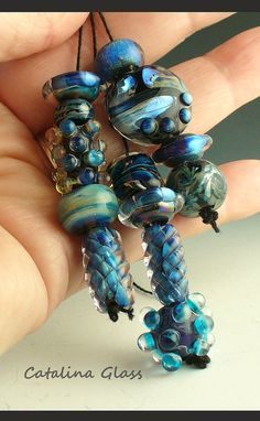 Lampwork Glass Beads Handmade by Catalina Glass by catalinaglass, $38.00
