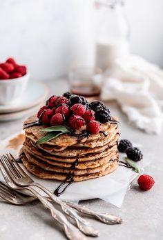 Oat Pancakes, Pancakes Easy, Waffles, Oat Muffins, Oats Recipes, Milk Recipes, Pancake Recipes, Flour Recipes, Pancake