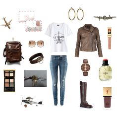 Flight to France, created by stephanie-pettitt-michelli on Polyvore