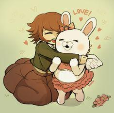 Please appear in little chihiro! Danganronpa Chihiro, Danganronpa Game, Danganronpa Characters, Danganronpa Trigger Happy Havoc, Nanami, Memes, Pikachu, Fans, Fan Art