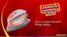 Liquidação fantástica 2015 - Ferro a Vapor Portátil Philips Walita.  Visite nossa loja Magazine Dufrom no site: www.magazinevoce.com.br/magazinedufrom/ E-mail: engefrom@uol.com.br   MAGAZINE DUFROM, todos os dias com ofertas incríveis para voce.