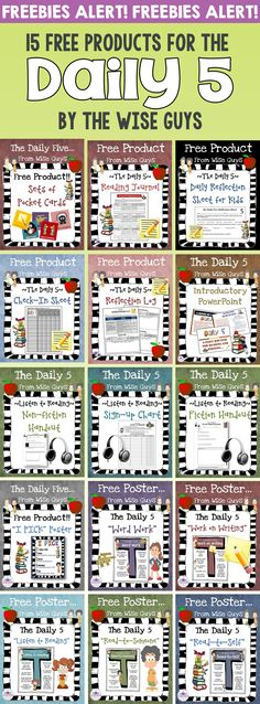 Daily 5 Resources for Intermediate Grades - Wise Guys Here are 15 FREE Daily 5 Resources to use in your classroom with your intermediate grades students.Here are 15 FREE Daily 5 Resources to use in your classroom with your intermediate grades students. Daily 5 Reading, First Grade Reading, Guided Reading, Teaching Reading, Reading Resources, Teaching Ideas, Close Reading, Reading Activities, Reading Skills