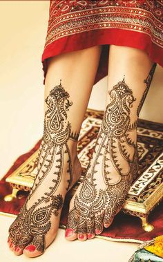 Latest Mehndi Designs For Legs For Bridals - Image Gallery - Latest Mehandi Designs