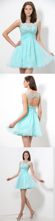 sparkling illusion neckline keyhole back junior homecoming dress