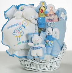 My Happy Baby Boy Gift Basket