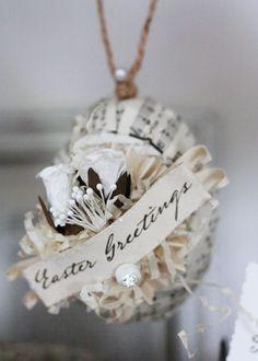 lovely Easter music egg ornament