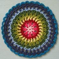 Crochet Mandala Wheel made by  Dawn, Middlesex, UK for yarndale.co.uk