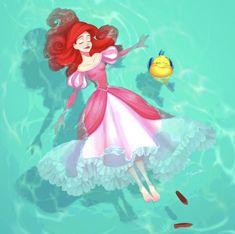 disney princess PONZU x PONZU makes some of the most beautiful fanart Disney Princess Drawings, Disney Princess Art, Disney Fan Art, Disney Drawings, Princess Castle, Mermaid Princess, Princess Luna, Disney Amor, Cute Disney