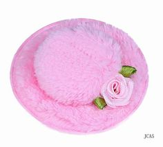 Mixed Color Top Mini Hats Hair Clip Flower Napping Headdress for Shows light Pink